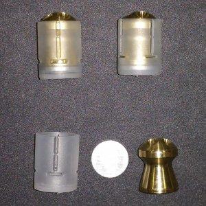 389gr Ballistic Machinist Brass Slug For Reloading lot of 5