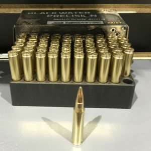 Match grade .223 Remington using a 75 grain Hornady BTHP