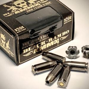 Black Rambo Ammo 9mm X-Def 124gr