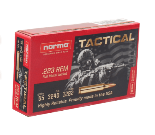 Norma UTactical Ammo 55 Grain Full Metal Jacket