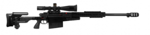 AX50 with telescopic sight