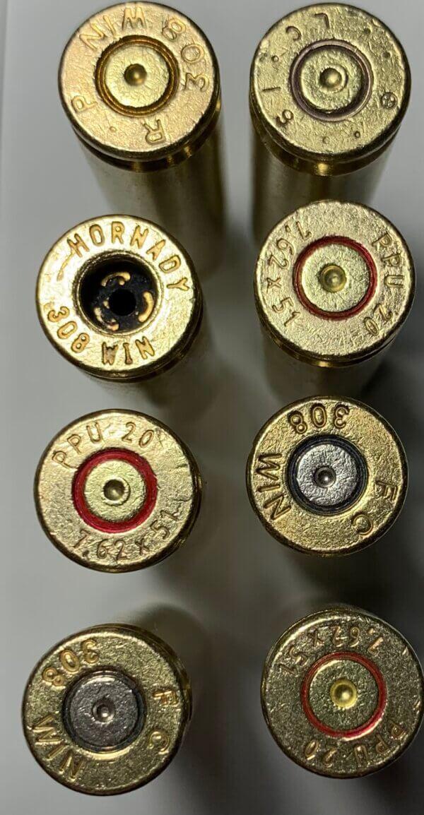 .308 Win/ 7.62x51 brass casings