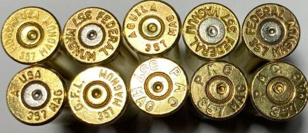 357 Magnum brass casings