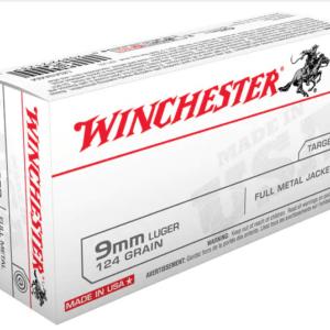 Winchester 9mm Luger 124 Grain Full Metal Jacket
