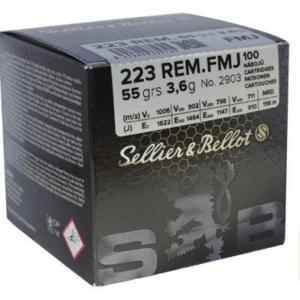 Sellier & Bellot Ammunition 223 Remington 55 Grain