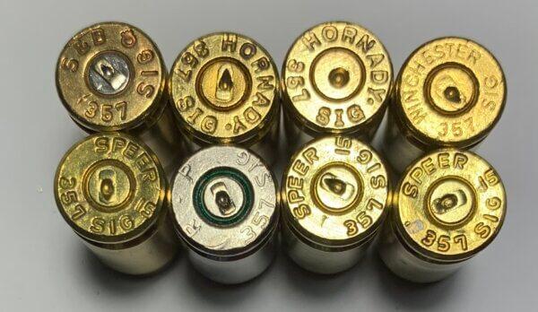 357 Sig brass casings